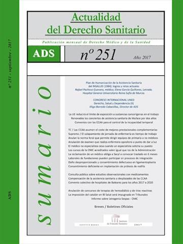 E-book Actualidad Del Derecho Sanitario Enero Septiembre 2017 | Actualidad Del Derecho Sanitario Enero Septiembre 2017