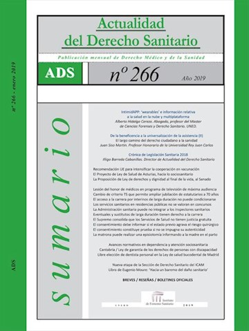 E-book Actualidad Del Derecho Sanitario 2019 (Enero - Abril)