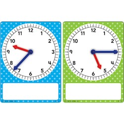 Papel Magnetic Foam Small Geared Clocks (X2)