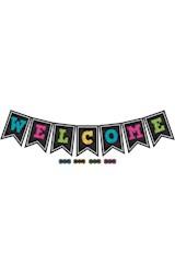 Papel Chalkboard Brights Pennants Welcome Bulletin Board