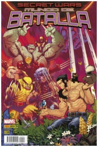 Comic Secret Wars. Mundo De Batalla Nº. 03
