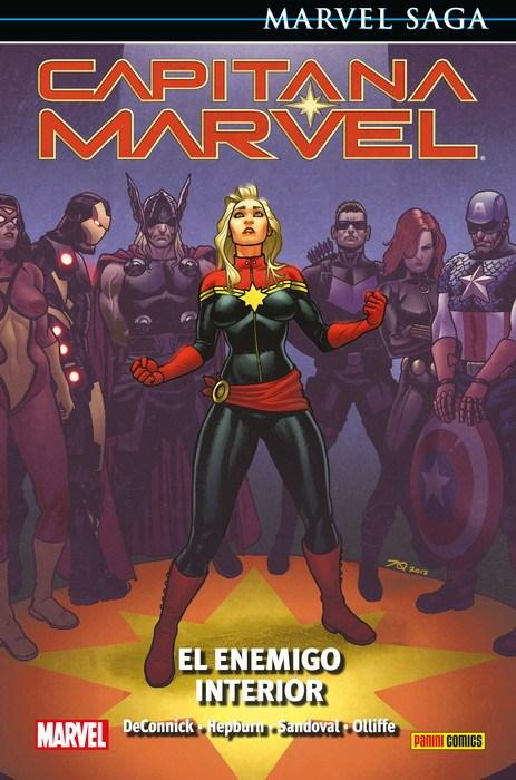 Comic Marvel Saga Capitana Marvel 3. El Enemigo Interior