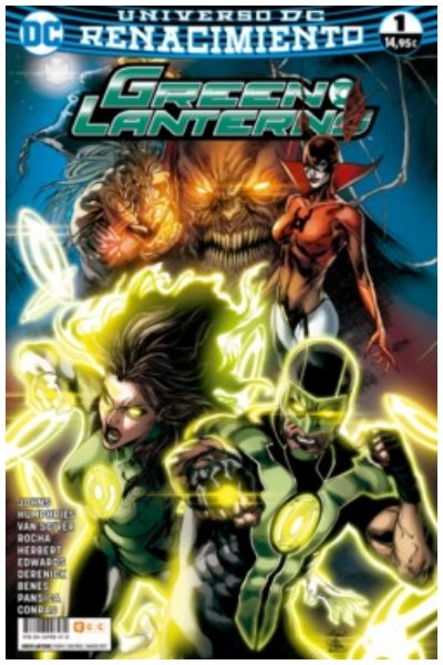 Comic Green Lanterns Núm. 01 (Renacimiento)