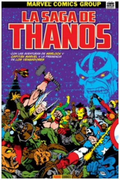 Comic La Saga De Thanos (Marvel Gold)