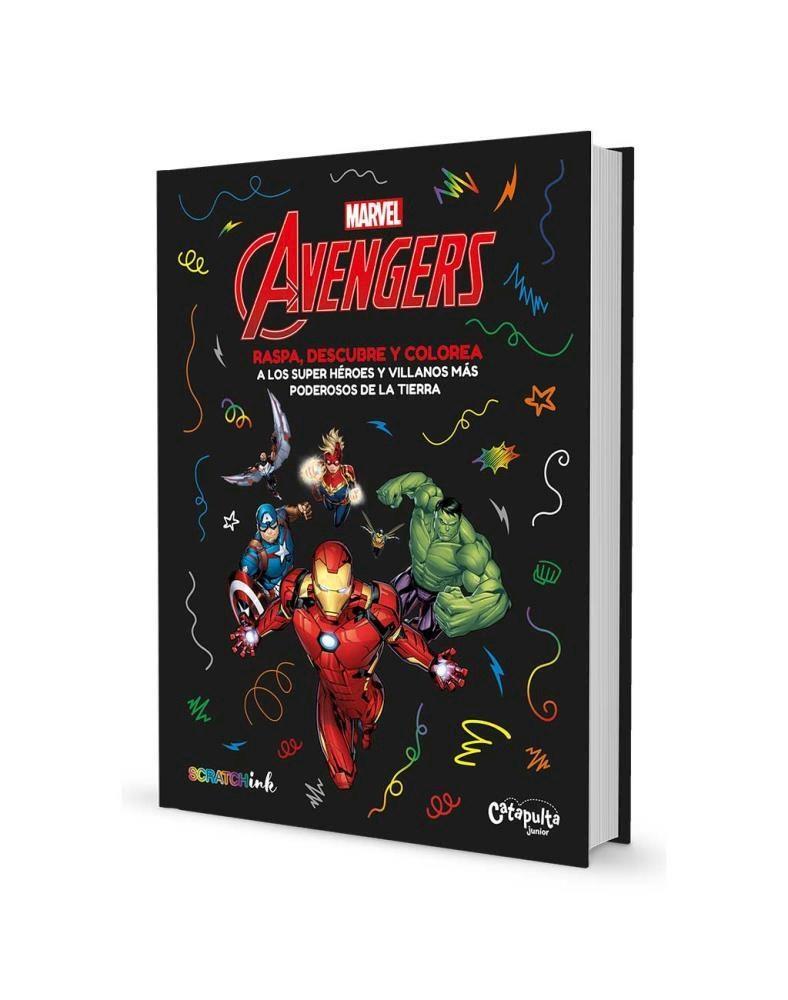 Papel Avengers Raspa, Descubre Y Colorea