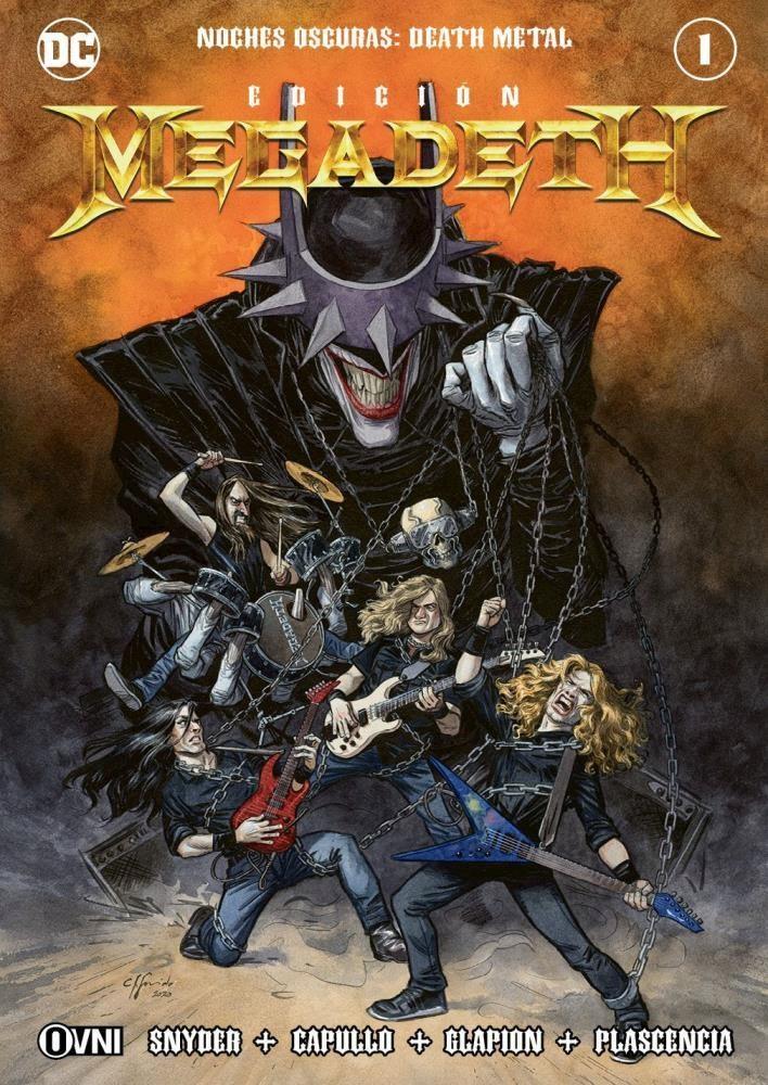 Comic Noches Oscuras: Death Metal #1 Edición Megadeth