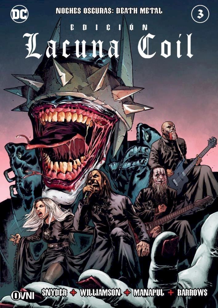 Comic Noches Oscuras: Death Metal #3 Edición Lacuna Coil