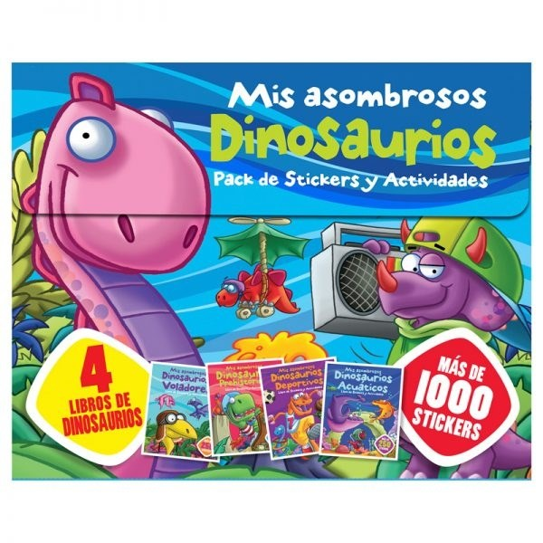 Papel Mis Asombrosos Dinosaurios 100 Stickers