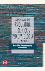 Papel MANUAL DE PSIQUIATRIA CLINICA Y PSICOPATOLOGIA DEL ADULTO