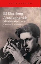 Papel GENTES, AÑOS, VIDA (MEMORIAS 1891-1967)