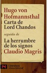 Papel CARTA DE LORD CHANDOS / LA HERRUMBRE DE LOS SIGNOS