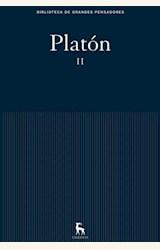 Papel OBRAS PLATON VOLUMEN 2-BIBLIOTECA DE GRANDES PENSADORES. GREDOS-