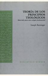 Papel TEORIA DE LOS PRINCIPIOS TEOLOGICOS