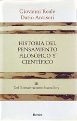 Papel HISTORIA DEL PENSAMIENTO FILOSOFICO Y CIENTIFICO III