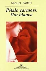 Papel PETALO CARMESI, FLOR BLANCA