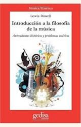 Papel INTRODUCCION A LA FILOSOFIA DE LA MUSICA