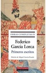 Papel OBRAS COMPLETAS IV PRIMEROS ESCRITOS (GARCIA LORCA)