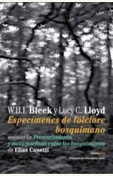Papel ESPECÍMENES DE FOLCLORE BOSQUIMANO