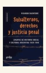 Papel SUBALTERNOS, DERECHOS Y JUSTICIA PENAL
