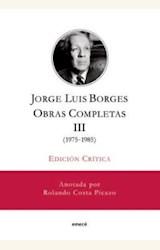 Papel JORGE LUIS BORGES. OBRAS COMPLETAS III(1975-1985)