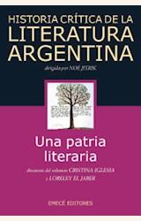 Papel HISTORIA CRITICA DE LA LITERATURA ARGENTINA (I)