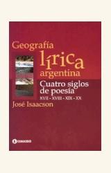 Papel GEOGRAFIA LIRICA ARGENTINA (CUATRO SIGLOS DE POESIA)