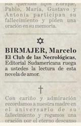 Papel EL CLUB DE LAS NECROLOGICAS
