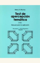 Papel TEST DE APERCEP.TEMATICA (TAT): MANUAL PARA LA APLICACI