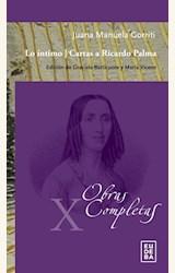 Papel LO ÍNTIMO/ CARTAS A RICARDO PALMA