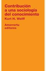 Papel CONTRIBUCION A UNA SOCIOLOGIA DEL CONOCIMIENTO