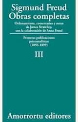Papel OBRAS COMPLETAS 03 (FREUD)