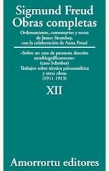 Papel OBRAS COMPLETAS 12 (FREUD)