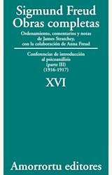 Papel OBRAS COMPLETAS 16 (FREUD)