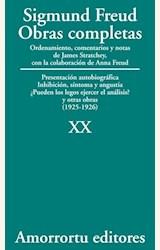 Papel OBRAS COMPLETAS 20 (FREUD)