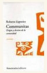 Papel COMMUNITAS (ORIGEN Y DESTINO DE LA COMUNIDAD)10/06