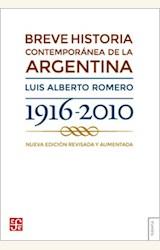 Papel BREVE HISTORIA CONTEMPORANEA DE LA ARGENTINA 1916-2010