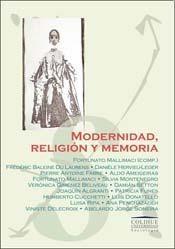 Papel MODERNIDAD, RELIGION Y MEMORIA