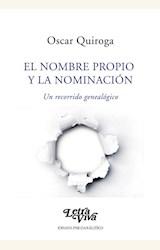 Papel EL NOMBRE PROPIO Y LA NOMINACIÓN