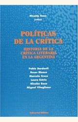 Papel POLITICAS DE LA CRITICA