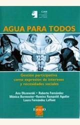 Papel AGUA PARA TODOS. GESTION PARTICIPATIVA