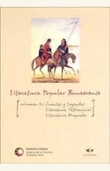 Papel LITERATURA POPULAR BONAERENSE VOL.2