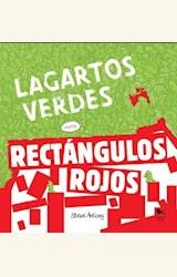 Papel LAGARTOS VERDES CONTRA RECTANGULOS ROJOS