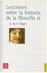 Papel LECCIONES SOBRE LA HISTORIA DE LA FILOSOFIA III