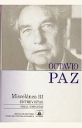Papel OBRAS COMPLETAS T.15 MISCELANEA III (PAZ)