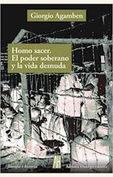 Papel HOMO SACER. EL PODER SOBERANO Y LA VIDA DESNUDA