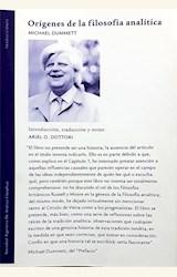 Papel ORÍGENES DE LA FILOSOFÍA ANALÍTICA