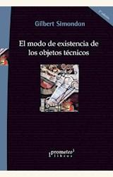 Papel EL MODO DE EXISTENCIA DE LOS OBJETOS TECNICOS