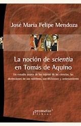 Papel LA NOCIÓN DE SCIENTIA EN TOMÁS DE AQUINO