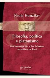 Papel FILOSOFÍA POLÍTICA Y PLATONISMO