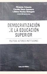 Papel DEMOCRATIZACIÓN DE LA EDUCACIÓN SUPERIOR